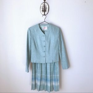 Petite Vintage Pendleton jacket and skirt set.